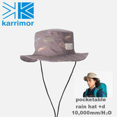 【速捷戶外】日本Karrimor Pocketable rain hat +d 防水圓盤帽(Multi logo) 82103A812, 登山帽 漁夫帽 防水帽