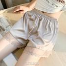 夏季打底短褲女可外穿寬松薄款緞面百搭居家透氣防走光安全褲大碼 快速出貨
