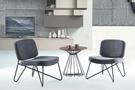 【南洋風傢俱】房間椅洽談椅系列-咖啡小圓几休閒桌椅組 CX895-1 CX608-4