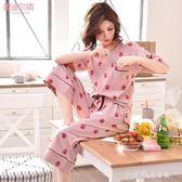 月子服夏季薄款純棉孕婦睡衣產後產婦哺乳喂奶衣懷孕期家居服套裝 小確幸生活館