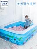 兒童充氣游泳池嬰兒成人家用海洋球池加厚家庭大號戲水池  ATF  極有家