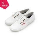 【A.MOUR 經典手工鞋】輕履系列- 白 / 平底鞋 / 仿真皮 / DH-6772