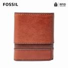 FOSSILEaston RFID防盜多功能短夾-棕色 SML1436914