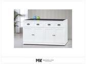 【MK億騰傢俱】ES705-01綺雅娜白色5尺碗盤餐櫃下座