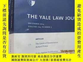 二手書博民逛書店the罕見yale law journal volume 124