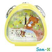 黃色款【日本進口】San-X 拉拉熊 鬧鐘 造型鐘 指針時鐘 燈光設計 懶懶熊 Rilakkuma - 055067