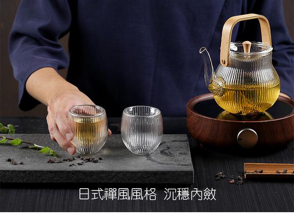 束光雙層玻璃杯-(100ml)-2入 茶杯 水杯 玻璃杯 耐熱杯 花茶杯 現貨