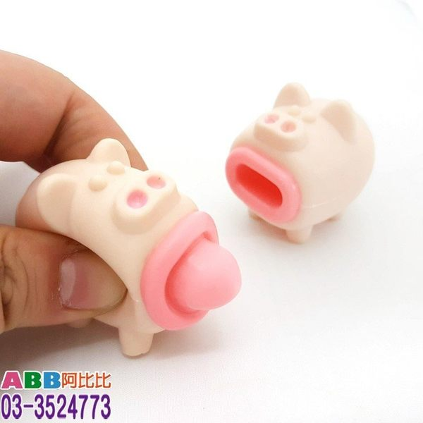 A1565★吐舌豬玩具_4cm#小#玩具#DIY#整人#發條#童玩#桌遊#益智#鐵皮#古早味懷舊兒童玩具
