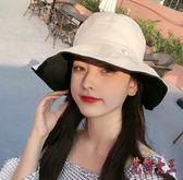 防曬紫外線遮陽帽 雙面漁夫帽女日系大帽檐百搭夏韓版太陽帽 BT4562【花貓女王】