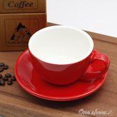 拿鐵咖啡杯 300ml歐式陶瓷加厚美式卡布奇諾專業拉花咖啡杯碟套裝  one shoes
