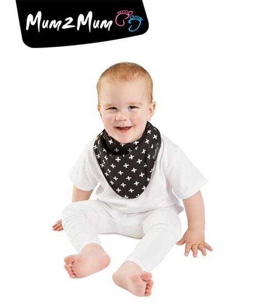 紐西蘭 MUM 2 MUM 雙面時尚造型口水巾圍兜 加號黑
