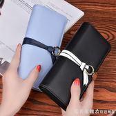 新款女士錢包長款手包韓版學生皮夾手拿包多卡位手機包大鈔夾2017 漾美眉韓衣
