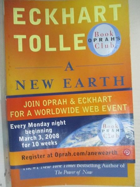 【書寶二手書T1/社會_HBB】A New Earth: Awakening to Your Life's Purpose_TOLLE, ECKHART