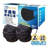 【清新宣言】 神秘黑 醫用口罩 國家隊 50入/盒 台灣製造