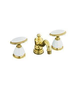 【麗室衛浴】美國第一品牌  KOHLER 原裝  門市樣品出清 K-280-9B-PB 三孔古典臉盆龍頭