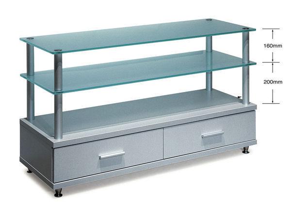 展藝 Zhanyi ZY-907 多功能高級玻璃音響櫃 / 電視架 霧面噴砂強化玻璃