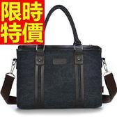 手提包-百搭實用大容量可側背男帆布包4色59j88【巴黎精品】