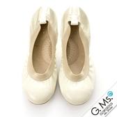 G.Ms. 旅行女孩II ‧ 動物紋真皮可攜式軟Q娃娃鞋(附專屬鞋袋) * 蚚蜴米白