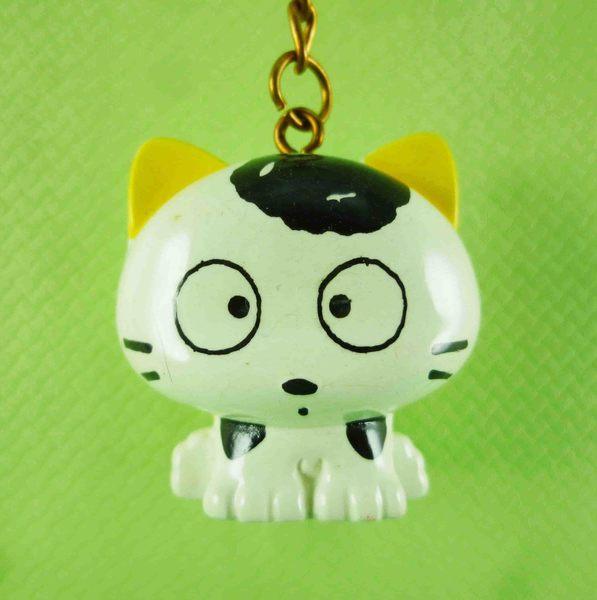 【震撼精品百貨】日本精品百貨~立體造型鑰匙圈-唐貓圖案-黃耳朵