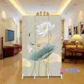 屏風 中式屏風隔斷時尚現代客廳移動簡約折疊臥室家用玄關折屏小戶型JY【快速出貨】