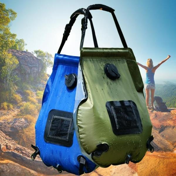 高質量戶外便攜太陽能熱水袋洗淋浴袋 20L野外野營沖涼洗澡沐浴袋 格蘭小鋪