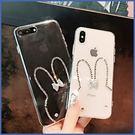 HTC U12 life U12Plus Desire12+ U11 EYEs U11 Plus 簡約小兔子鑽殼 手機殼 水鑽殼 訂製