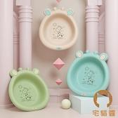 【2個裝】可折疊洗臉盆新生兒童塑膠可愛卡通小盆子【宅貓醬】