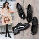 女鞋zipper鞋軟妹小皮鞋女學生韓版百搭ulzzang原宿英倫 『夢娜麗莎精品館』