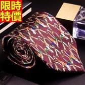 桑蠶絲領帶 男配件-色織提花真絲條紋商務休閒手打領帶66ae46【巴黎精品】