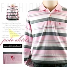【大盤大】(P01636) 男 快速出貨 口袋POLO衫 長袖 條紋 圖案 台灣製 休閒衫 運動 寬鬆 有大尺碼 禮