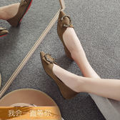 全館免運春季新品全館免運正韓百搭水鑽淺口尖頭單鞋女平底鞋平跟舒適豆豆女鞋
