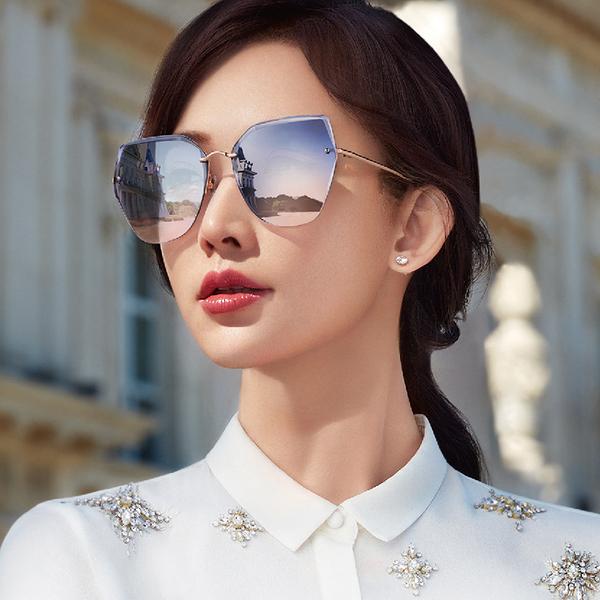 HELEN KELLER 林志玲代言 H8812 (玫瑰金) 貓眼 太陽眼鏡 久必大眼鏡