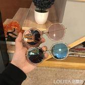 ins墨鏡女韓版個性圓臉顯瘦街拍太陽鏡夏季出游防紫外線遮陽眼鏡  LOLITA