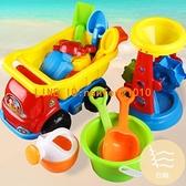 兒童沙灘玩具車套裝戲水桶挖沙鏟子玩沙大號工具【白嶼家居】