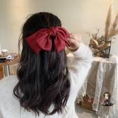 蝴蝶結髮夾 韓國網紅紅色大蝴蝶結髮卡頭飾可愛馬尾髮夾髮飾后腦勺夾子 2色