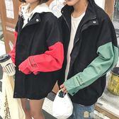 秋季寬鬆學生夾克青少年男士繡花棒球服情侶正韓潮流男裝外套