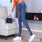 高腰牛仔褲女褲春秋冬2020年新款潮修身顯瘦小腳加絨發熱加長褲子 小艾新品