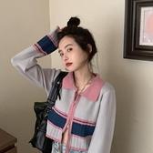 針織開衫 設計感打底針織衫心機上衣女2021秋冬新款長袖短款毛衣開衫外套潮 嬡孕哺