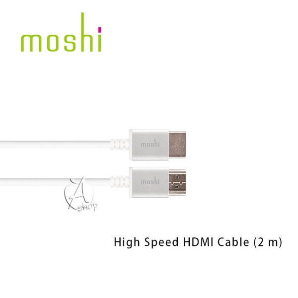 【A Shop】Moshi High Speed HDMI Cable (2 m)高速傳輸線(99MO023126)支援4K Apple TV的絕配