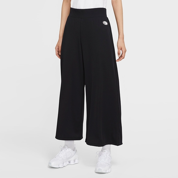 Nike NSW Ribbed Trousers 女裝 長褲 寬褲 喇叭褲 休閒 修身 黑【運動世界】CU5357-010