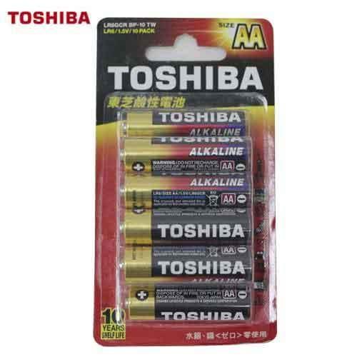 TOSHIBA東芝 鹼性電池3號 10入