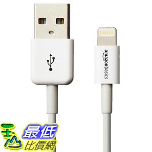 [美國直購] iphone 認證線 AmazonBasics Apple Certified Lightning to USB Cable - 4 Inches (10 Centimeters) - White