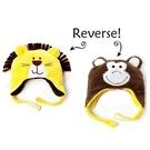Flapjack kids雙面保暖造型帽-獅子王/小猴子LUV0129[衛立兒生活館]