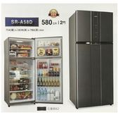 SAMPO聲寶【SR-A58D(K2)】580L變頻三門冰箱(石墨銀)