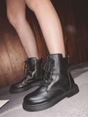 短靴秋季新款黑色馬丁靴女英倫風復古機車短靴正韓百搭女靴ins潮 扣子小鋪