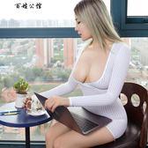 情趣內衣性感OL激情套裝騷三點式小胸開檔誘惑透視裝夜火制服裝女