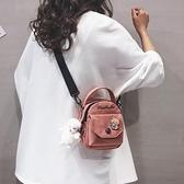 斜跨手機包 手機包女斜跨2021新款日系原宿網紅小包包可愛百搭學生帆布斜挎包 小衣裡
