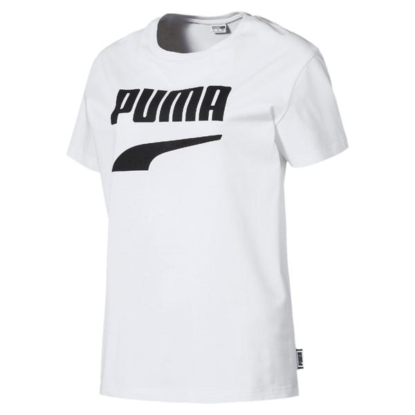 Puma Downtown 女 白 短袖 運動短袖 T恤 流行系列 運動上衣 短T 休閒 上衣 57910002