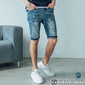 韓版鬼洗破壞吊飾牛仔短褲【BPA13】OBIYUAN 高規彈性牛仔褲 共1色