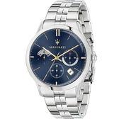 【Maserati 瑪莎拉蒂】/三眼鋼帶錶(男錶 女錶)/R8873633001/台灣總代理原廠公司貨兩年保固